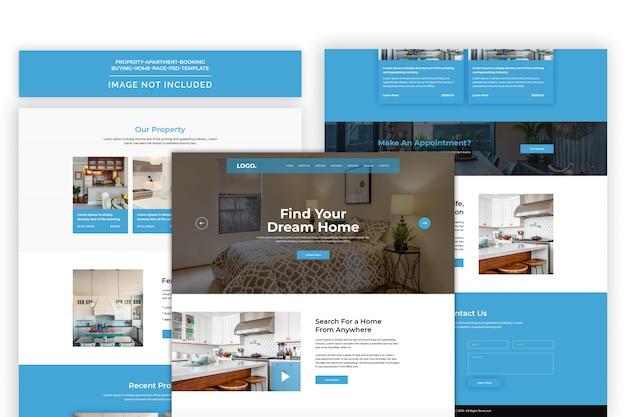 Immobilien-website premium psd vorlage