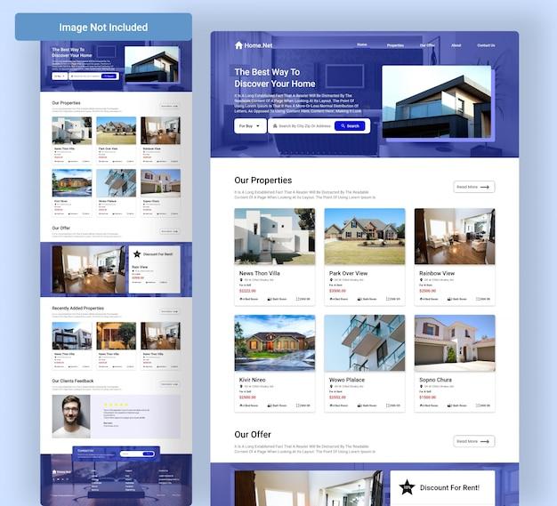 Immobilienagentur web landing page
