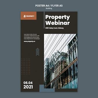 Immobiliendruckvorlage