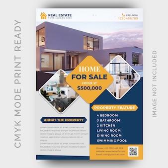Immobiliengeschäft flyer design-vorlage