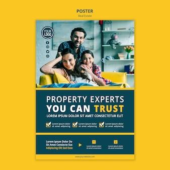 Immobilienkonzept poster vorlage