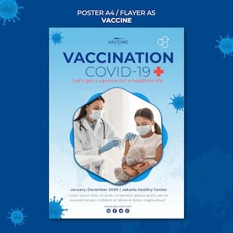 Impfstoffplakatschablone
