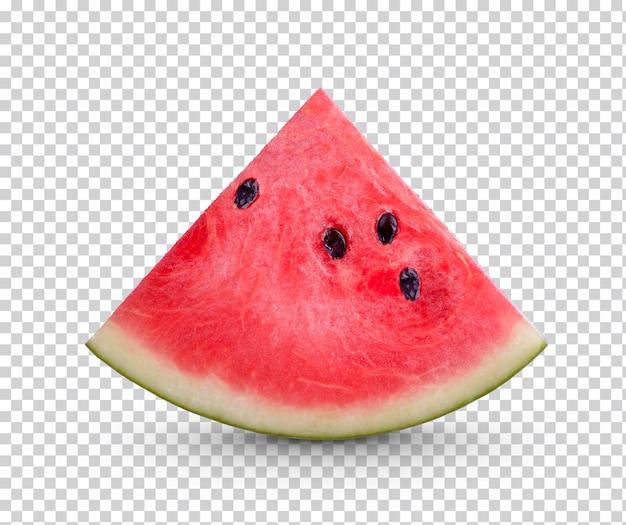 In scheiben geschnittene wassermelone isoliert
