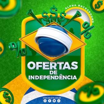 Independence bietet 3d-logo für die komposition