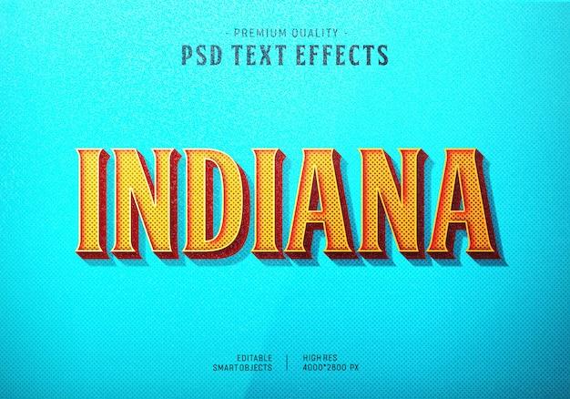 Indiana text style effekt