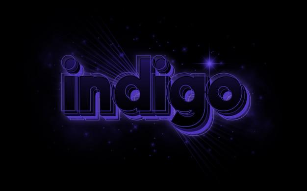 Indigo bearbeitbare texteffektvorlage