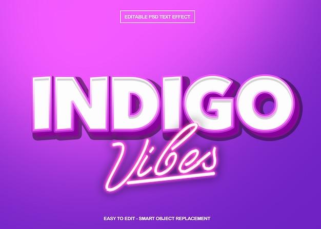 Indigo vibes texteffekt