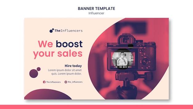 Influencer banner template design