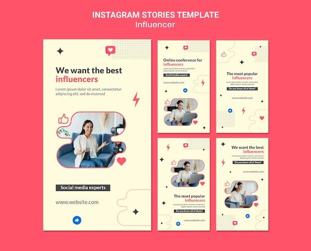 Influencer instagram geschichten vorlage
