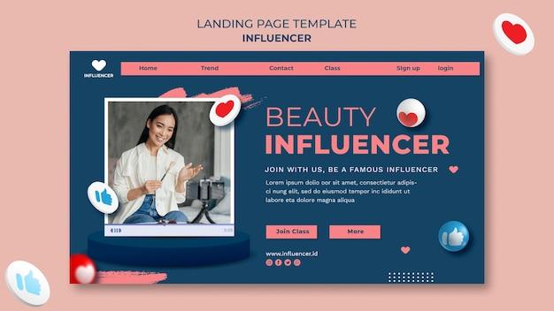 Influencer landing page