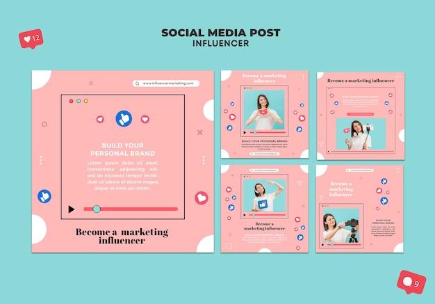 Influencer social media beiträge
