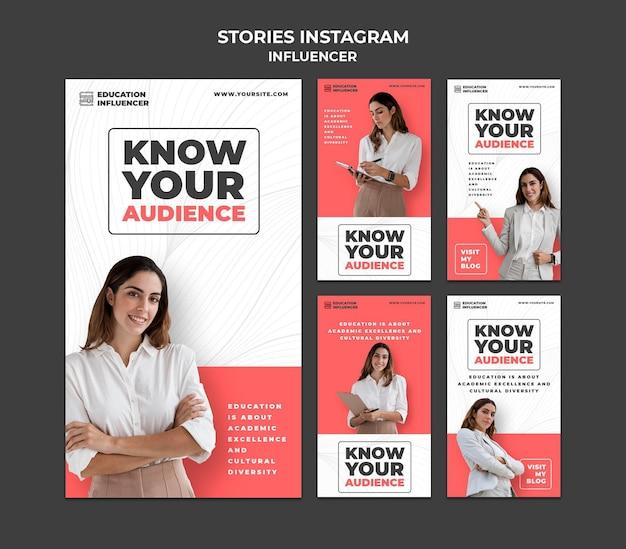Influencer social media postet geschichten