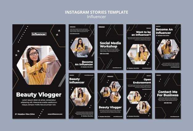 Influencer social media stories gesetzt