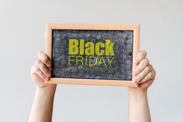 Informationskampagne für den schwarzen freitag