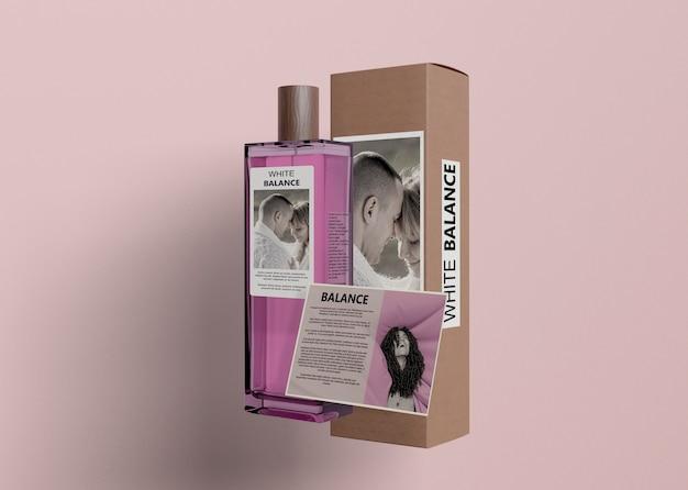 Informationskarte für eine flasche parfüm