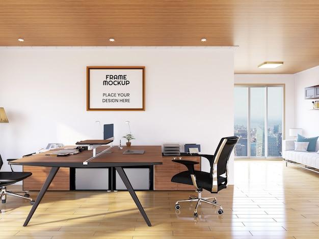 Innen büroraum fotorahmen modell