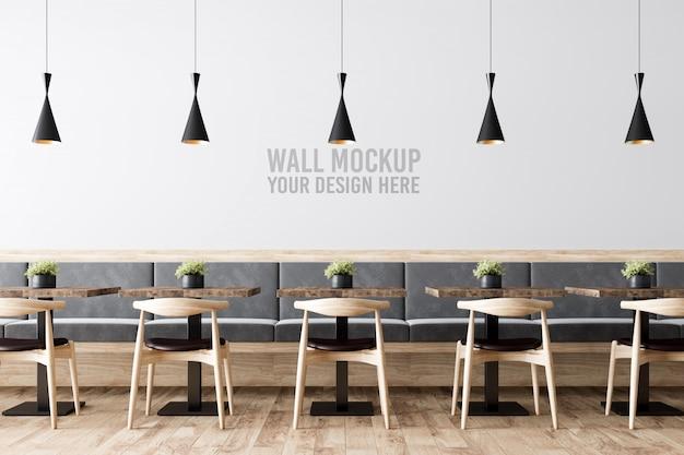 Innen cafe wall mockup
