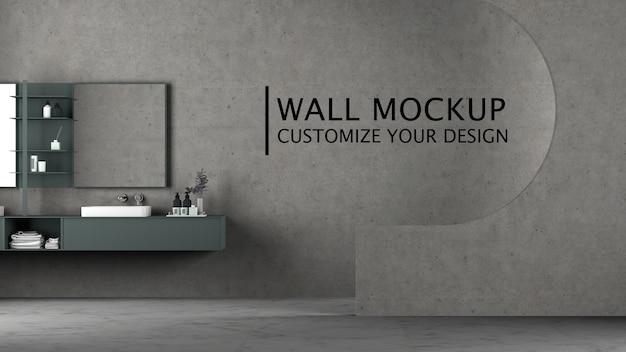 Innenarchitektur mit minimalistischem konzept