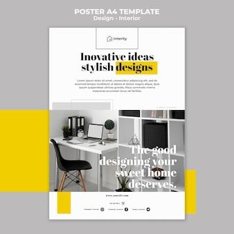 Innenarchitekturplakat der innovativen ideen Kostenlosen PSD