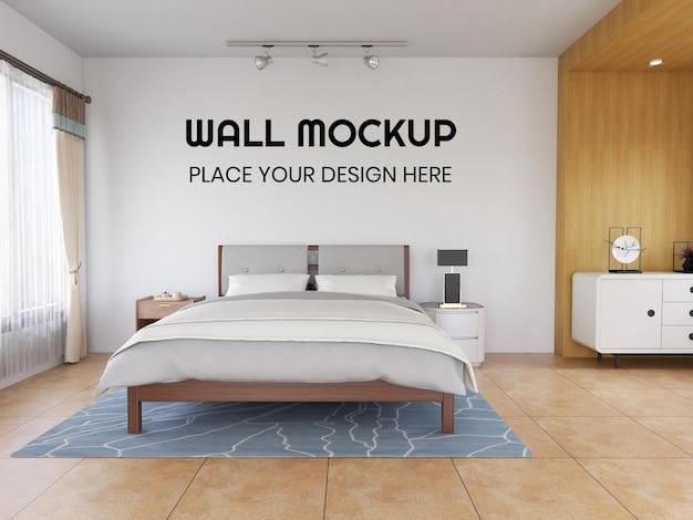 Innenschlafzimmer realistisches wandmodell