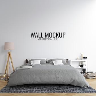 Innenschlafzimmer-wand-modell-hintergrund