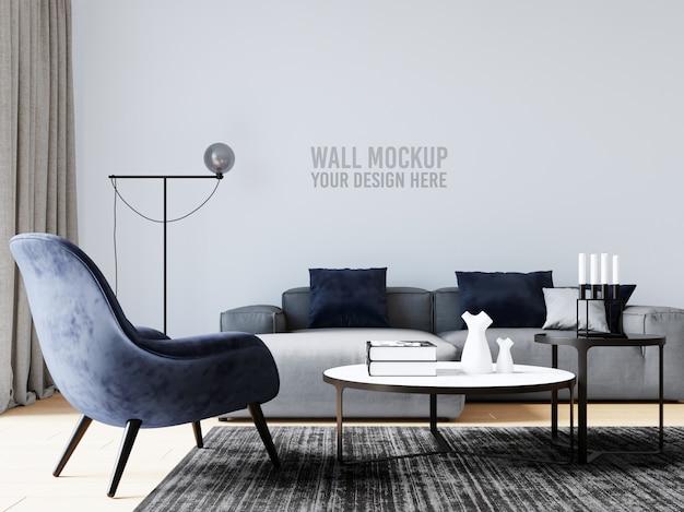 Innenwohnzimmer-wand-modell