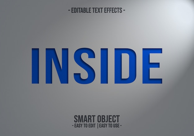 Innerer texteffekt