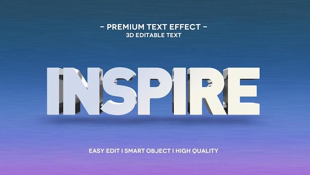 Inspirieren sie die 3d-texteffektvorlage