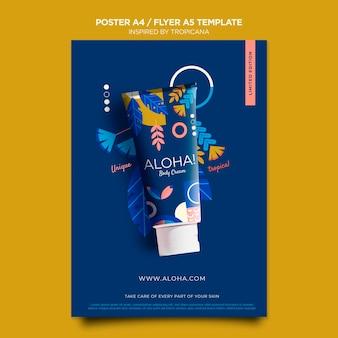 Inspiriert von der tropicana-poster-vorlage