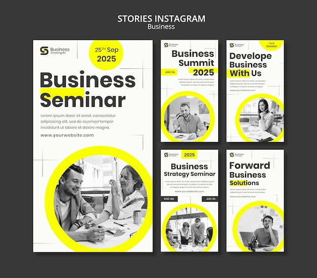 Insta-story-business-template-design Kostenlosen PSD
