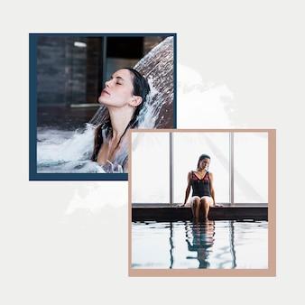 Instagram beitragsvorlage mit spa-konzept
