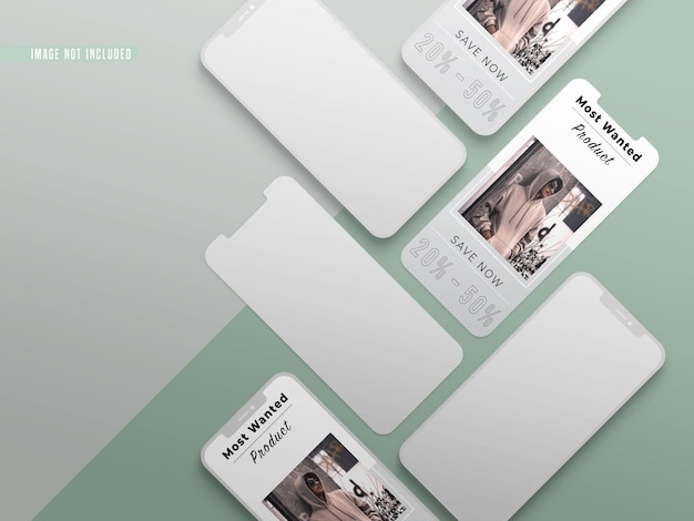 Instagram fashion social media beitrag mockup