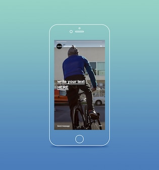 Instagram geschichten auf smartphone