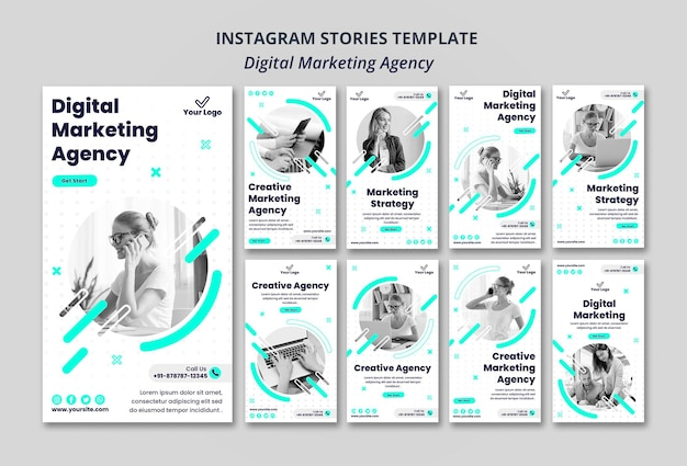 Instagram-geschichten der agentur für digitales marketing
