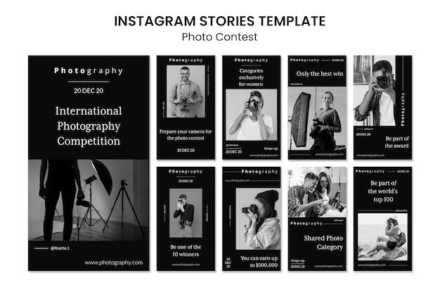 Instagram-geschichten des fotowettbewerbs