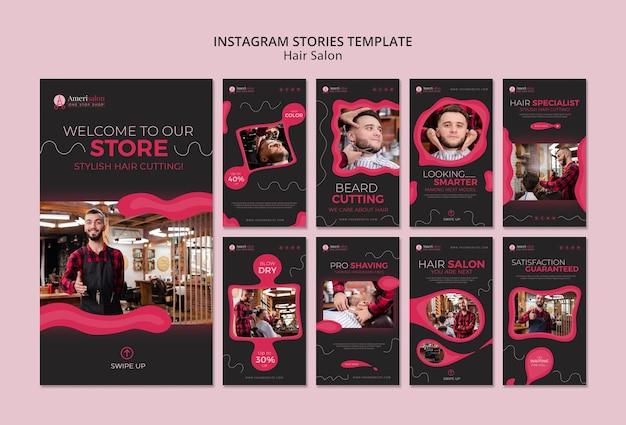 Instagram geschichten für friseursalon