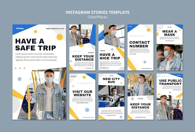 Instagram-geschichten für sichere reise