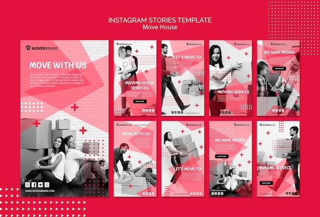 Instagram geschichten mit umzug t