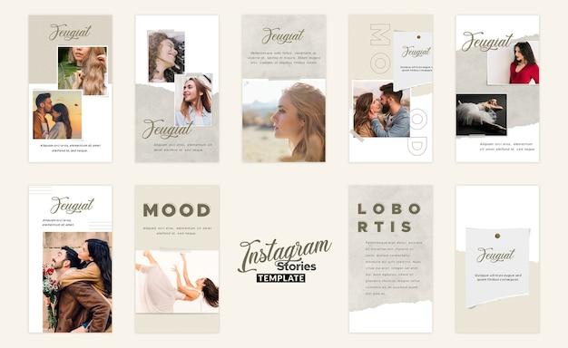 Instagram geschichten moodboard-vorlage