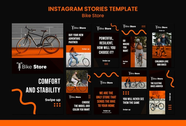 Instagram geschichten sammlung für fahrradladen