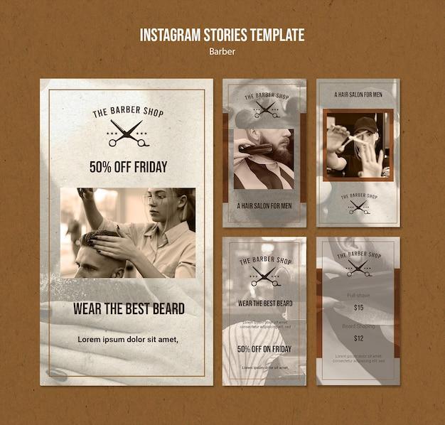 Instagram geschichten sammlung für friseurladen