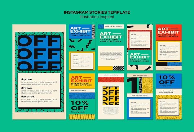 Instagram geschichten sammlung für kunstausstellung