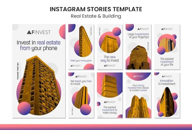Instagram-geschichten über immobilien und gebäude Kostenlosen PSD