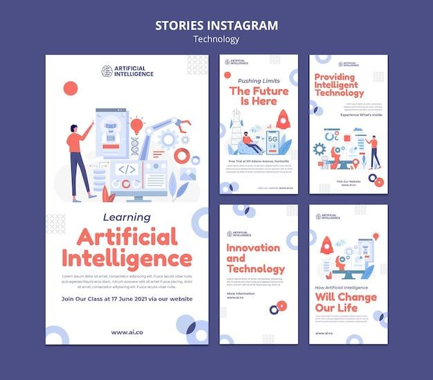 Instagram-geschichten über künstliche intelligenz
