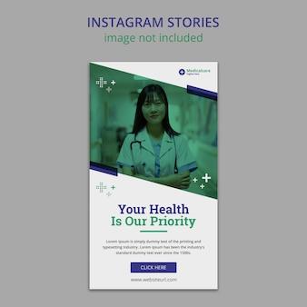 Instagram-geschichten zu medizin und gesundheitswesen