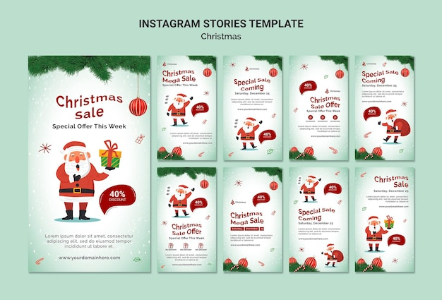 Instagram-geschichten zum weihnachtsverkauf