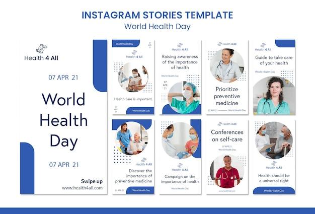 Instagram-geschichten zum weltgesundheitstag