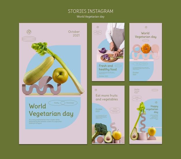Instagram-geschichten zum weltvegetariertag