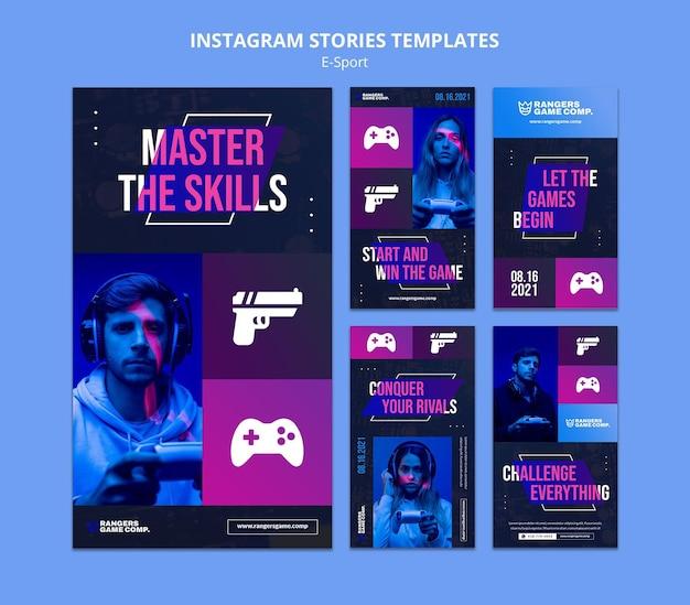 Instagram-geschichten zur e-sport-herausforderung