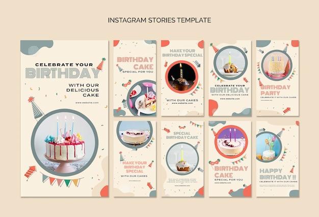 Instagram-geschichten zur geburtstagsfeier